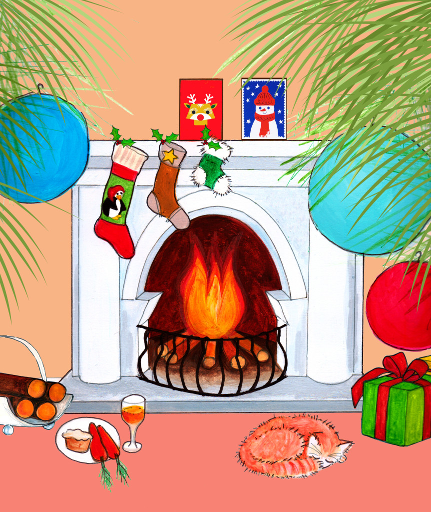 Fireplace christmas scene_updated_version