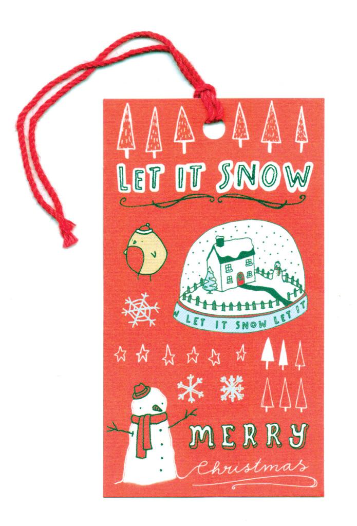 Let it snow tag