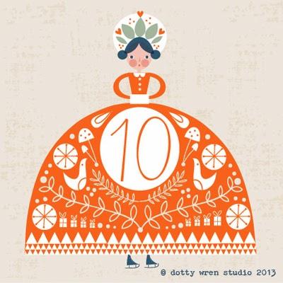 dotty wren advent 10
