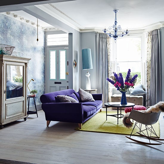 Purple-Velvet-and-Oak-Floor-Living-Room-Livingetc--Housetohome