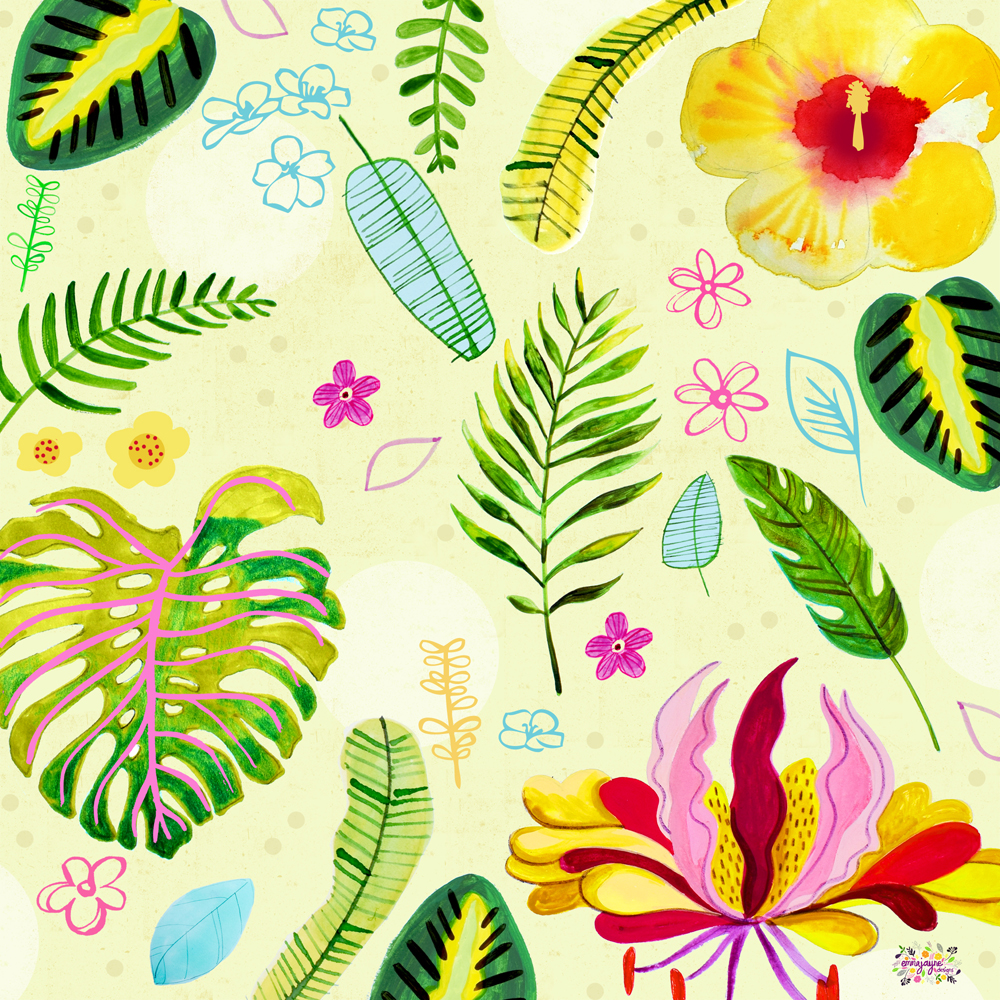 Tropical-Rainforest-print-scarf-design-emmajayne-designs