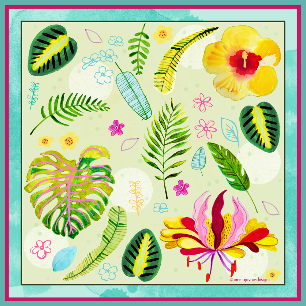 tropical-rainforest-print-scarf-design8-emmajayne-designs