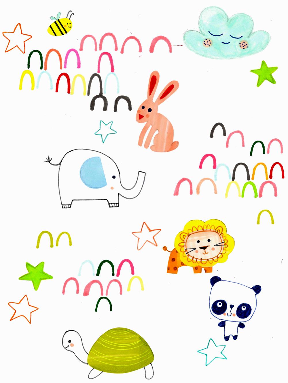 Baby-animal-illustrations-for-giftwrap3-emmajayne-designs