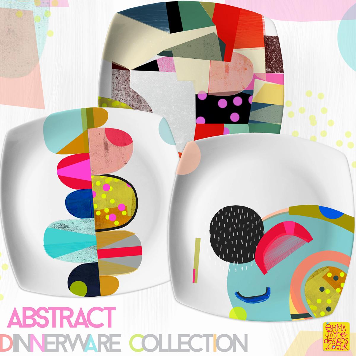 bright-abstract-dinnerware-collection-emmajayne-designs  sc 1 st  Emma Jayne Designs & Blog ArchiveBright abstract dinnerware collection -